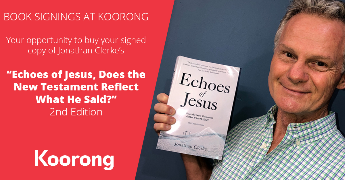 Book Signings at Koorong - Echoes of Jesus